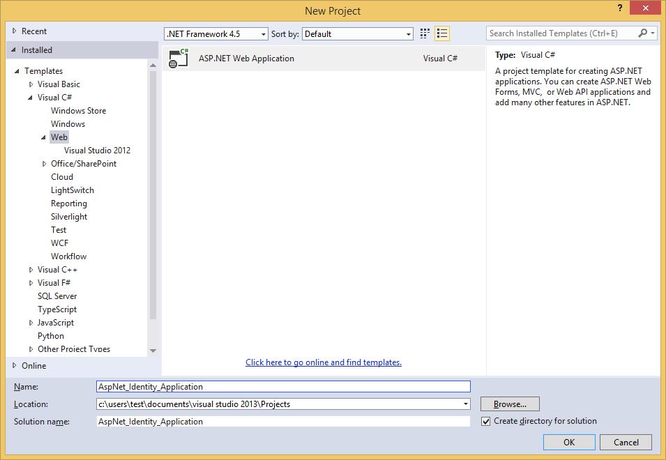 Using Entity Framework Implementation of ASP NET Identity 1