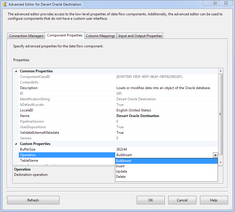 Loading Data to Oracle