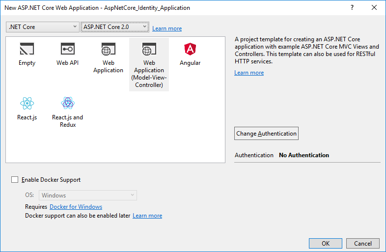 Using Entity Framework Core Implementation of ASP NET Core