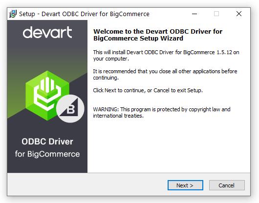 BigCommerce ODBC Driver (32/64 bit) full screenshot