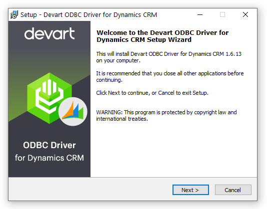 ODBC Driver for Dynamics 365 full screenshot