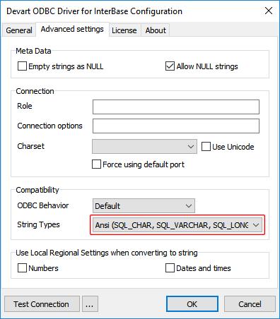 Using in DBeaver - ODBC Driver for InterBase