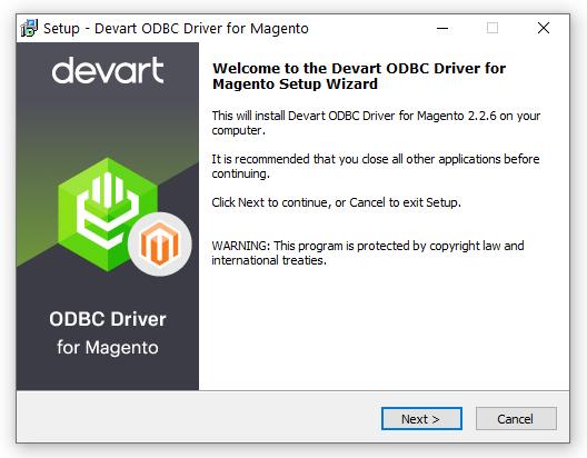 Magento ODBC Driver (32/64 bit) full screenshot