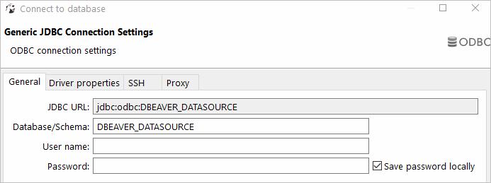 Connecting DBeaver to MySQL via ODBC Driver