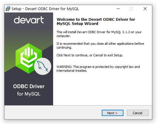 Devart ODBC Driver for MySQL full screenshot