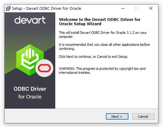 Devart ODBC Driver for Oracle full screenshot