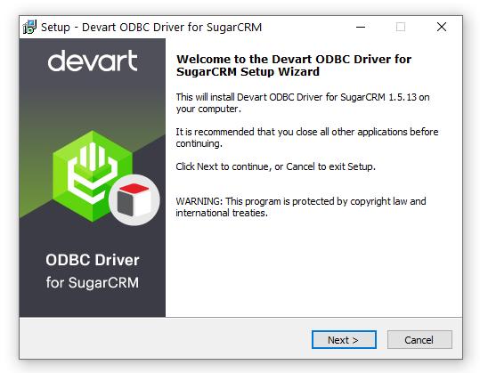 ODBC Driver for SugarCRM full screenshot