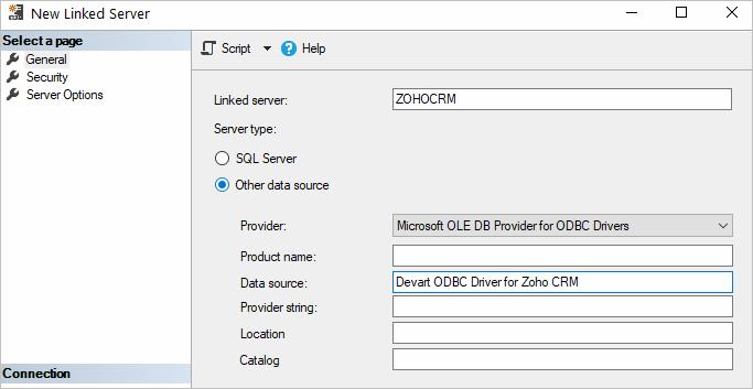 Using in SQL Server Management Studio - ODBC Driver for Zoho CRM
