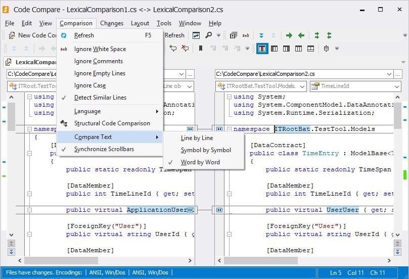 CodeCompare full screenshot