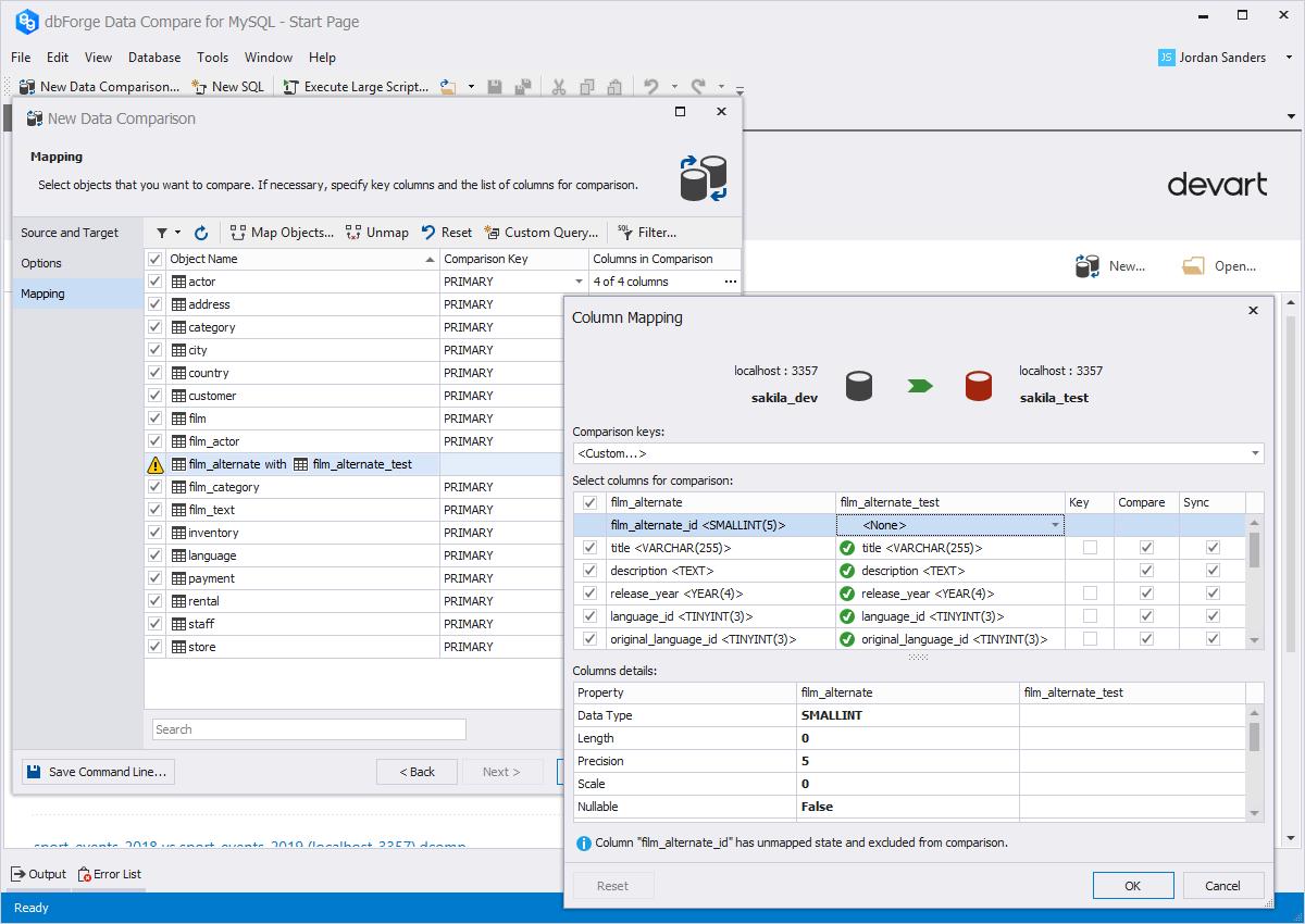 MySQL Data Compare Tool for Quick Comparison and Synchronization