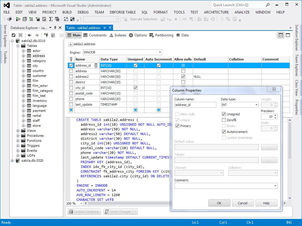 dbForge Fusion for MySQL - Visual Studio Marketplace