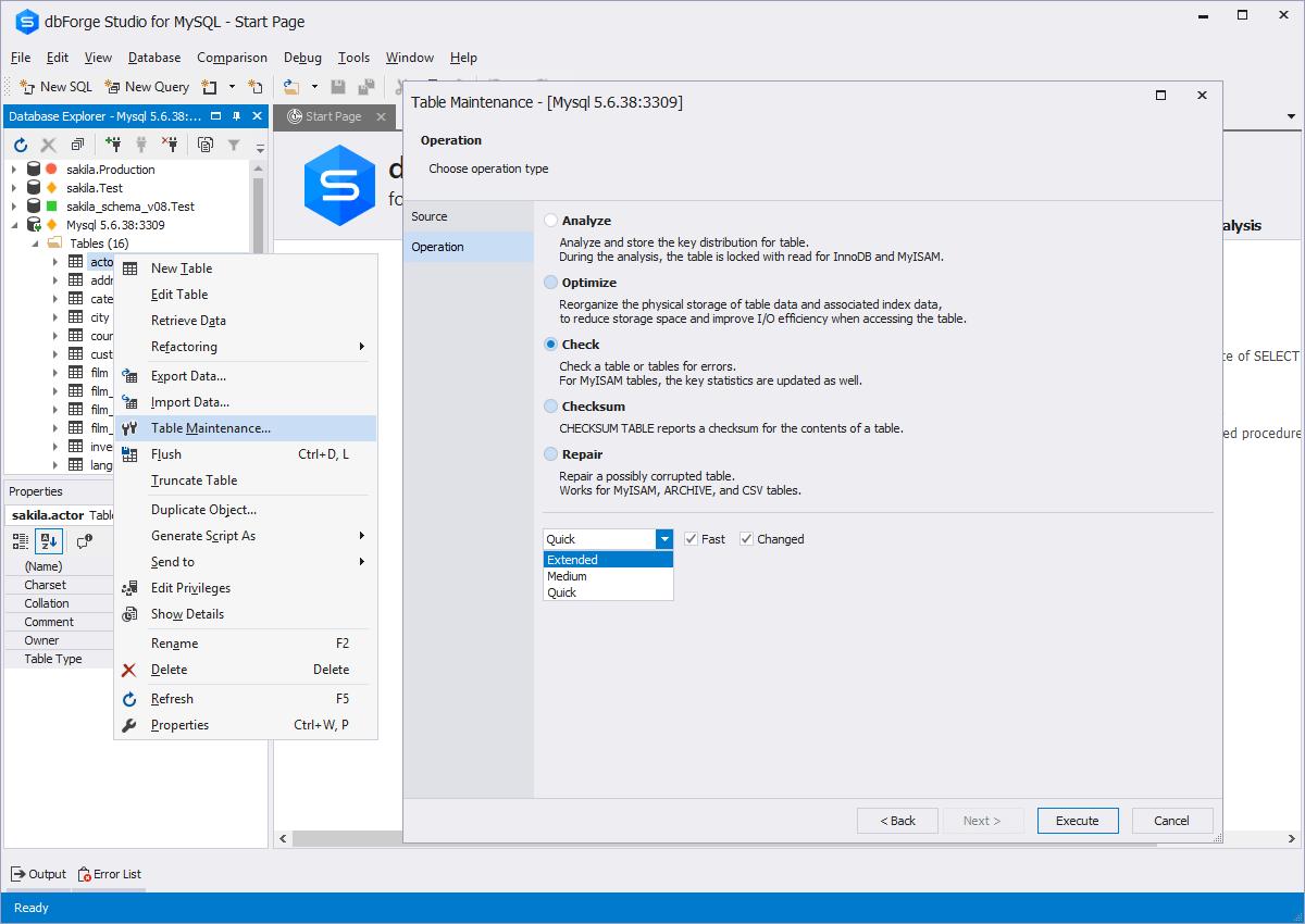 Mysql admin - Data Export And Import