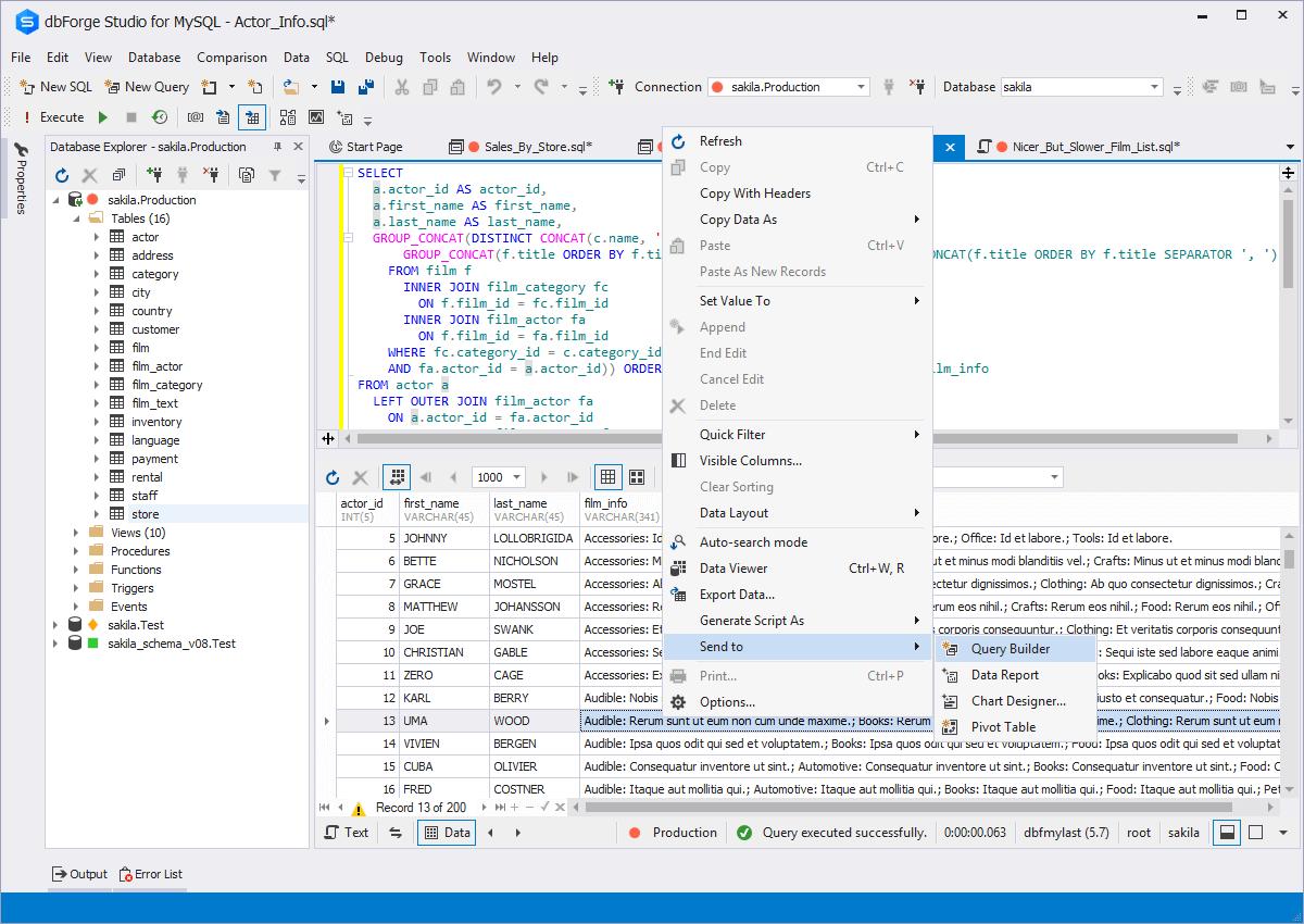 Hands-free Query Designer - MySQL Query Builder