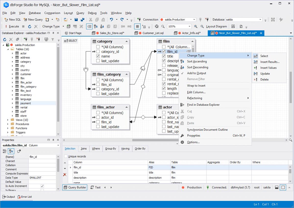 MySQL Query Tool - Visual Query Builder by Devart