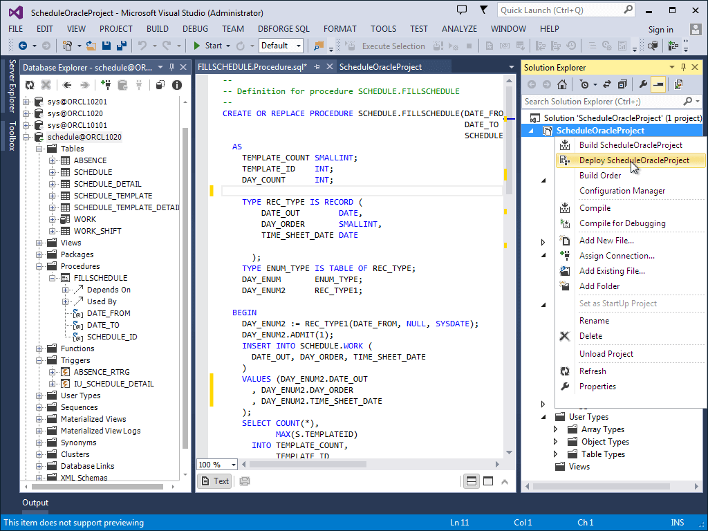 Visual Studio Plugin For Connecting Oracle Database