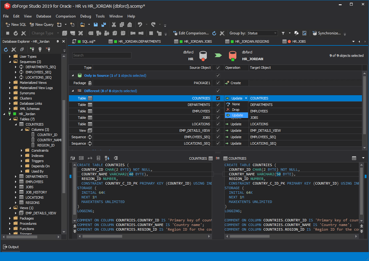 dbForge Studio for Oracle - Database Backup Wizard