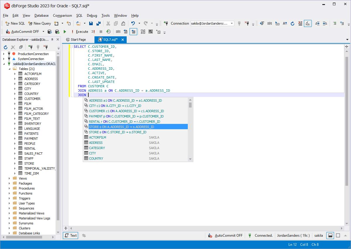 dbForge Studio for Oracle - PL/SQL Development