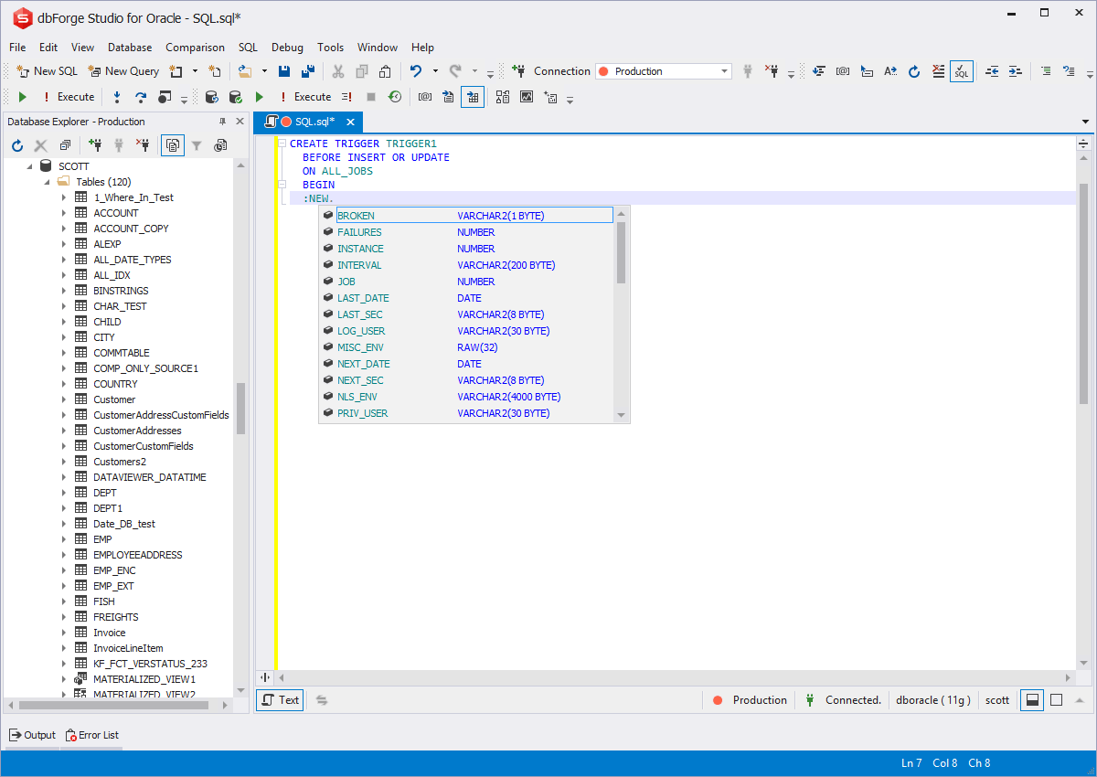 Code efficiently with PL/SQL Context Prompts from Devart