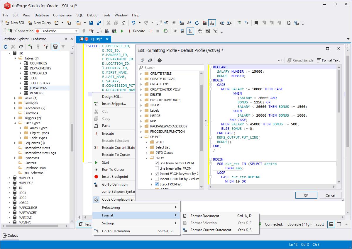 Pl sql developer tools in dbforge studio for oracle - Create table in oracle sql developer ...