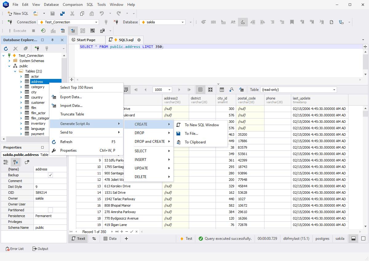 Exploring PostgreSQL databases with dbForge PostgreSQL IDE