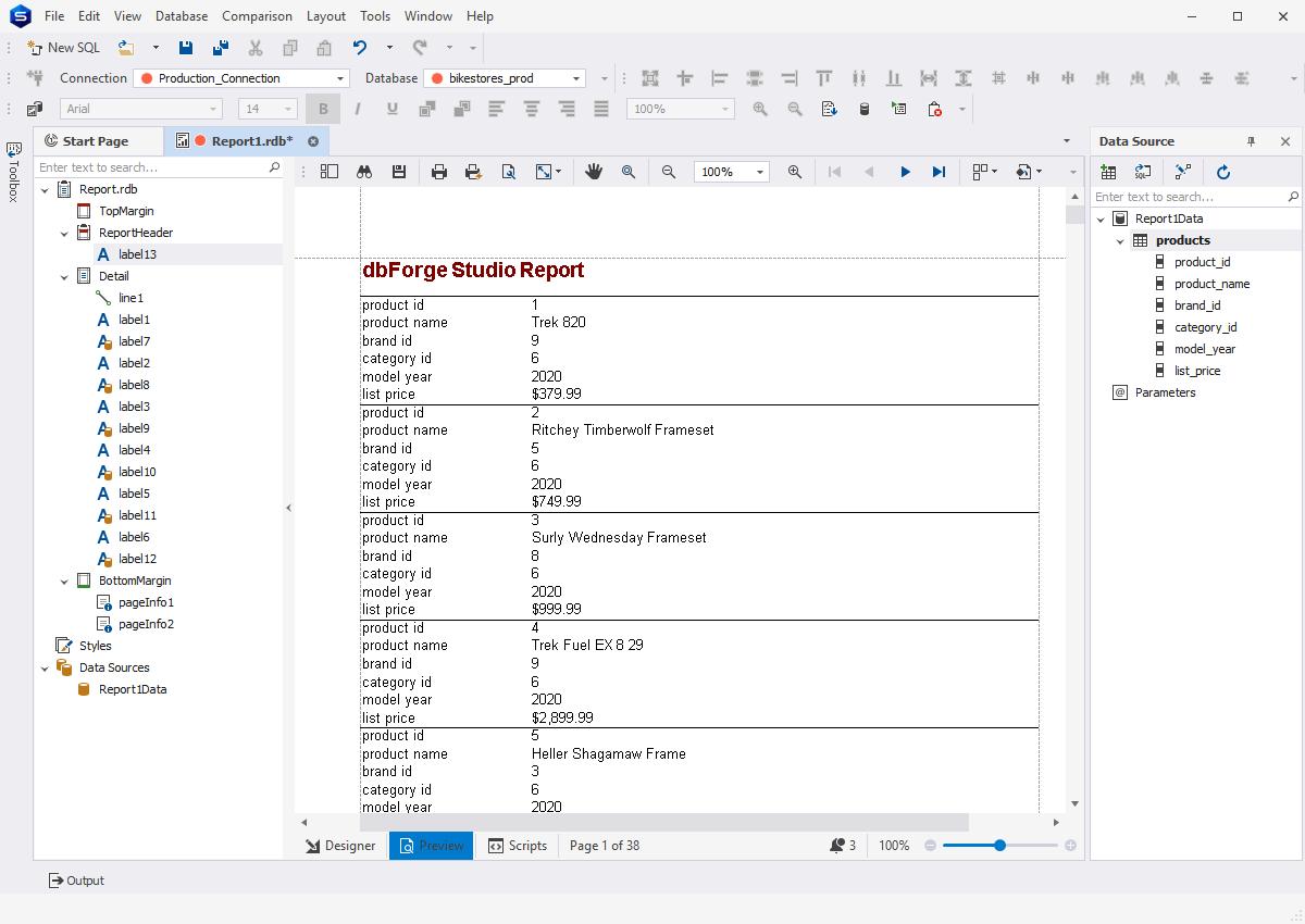 dbForge Studio for PostgreSQL - Pivot Tables