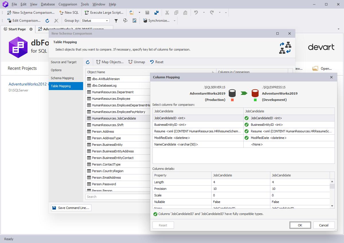 dbForge Compare Bundle for SQL Comparison and Synchronization