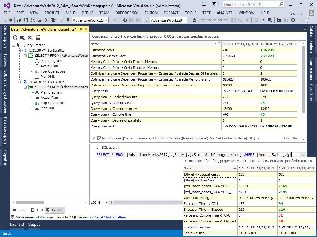 dbForge Fusion for SQL Server - Visual Studio Marketplace