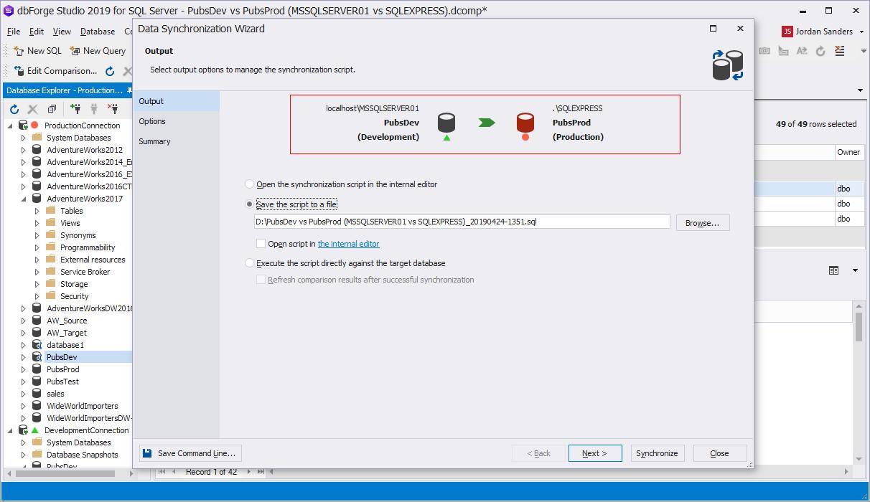 SQL Connection Categories in dbForge Studio for SQL Server