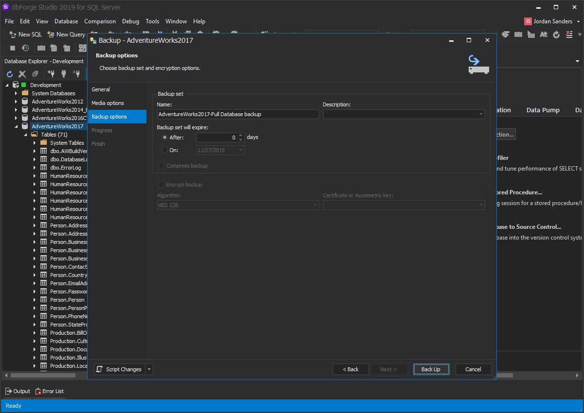 Best Way to Backup an SQL Server Database
