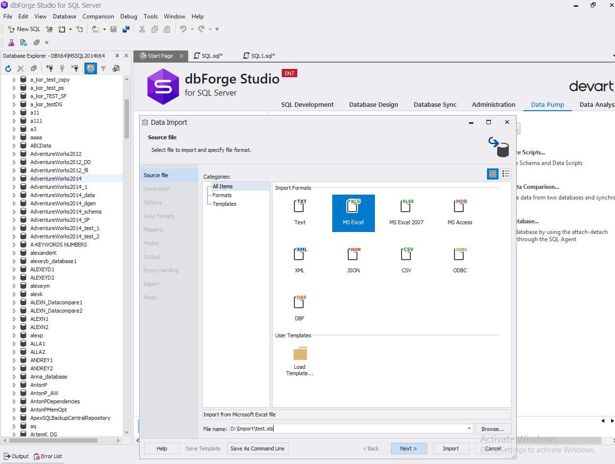 SQL Data Import and Export Tools | SQL Server Data Migration Tool