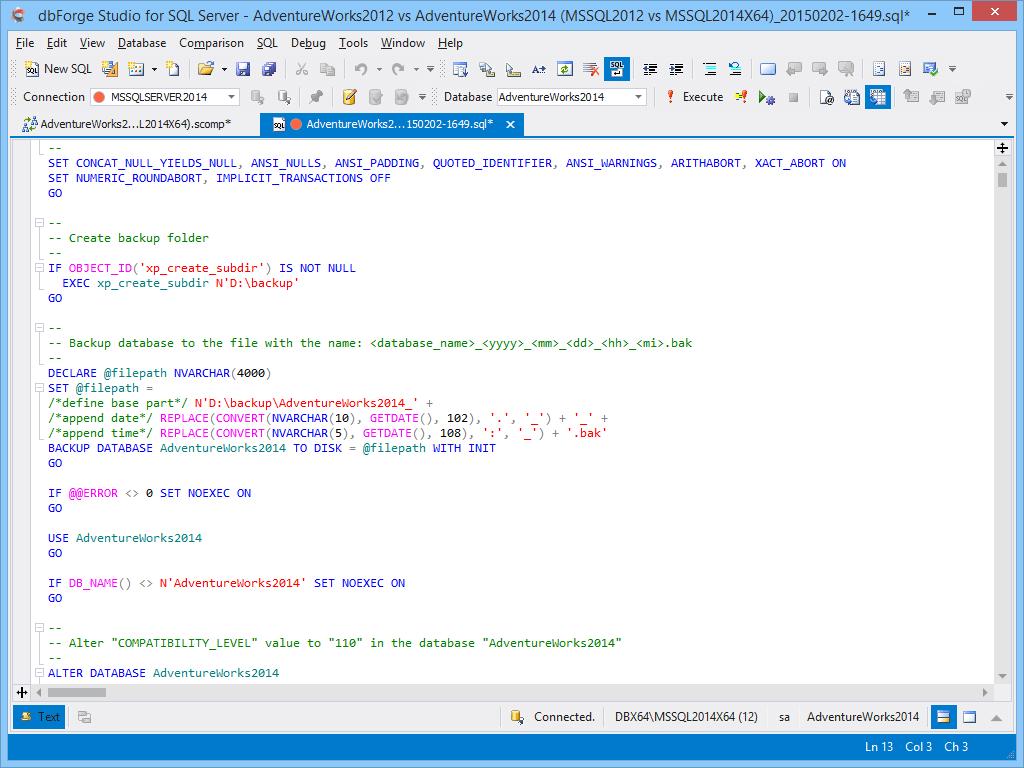 SQL Server Schema Synchronization Tool