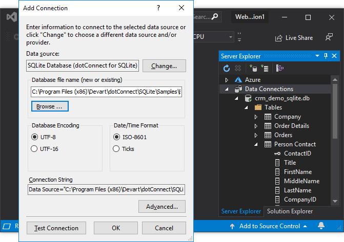 dotConnect for SQLite full screenshot