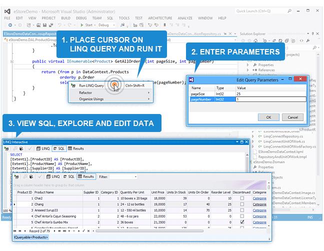 Design-time LINQ Query Execution