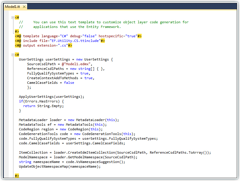 T4 Editor - VS add-in for editing T4 templates | Devart
