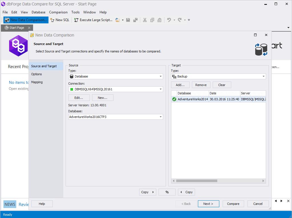 dbForge Data Compare for SQL Server - Подробнее